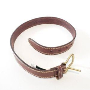 Cole Haan 100% Leather Double Stitch Brown Belt.